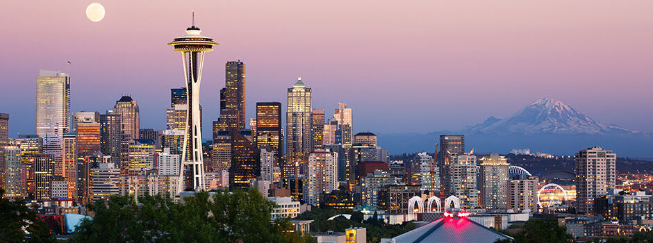 Seattle Skyline by Dawn